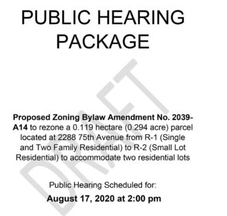 2020-08-17 - PH Package Bylaw 2039-A14