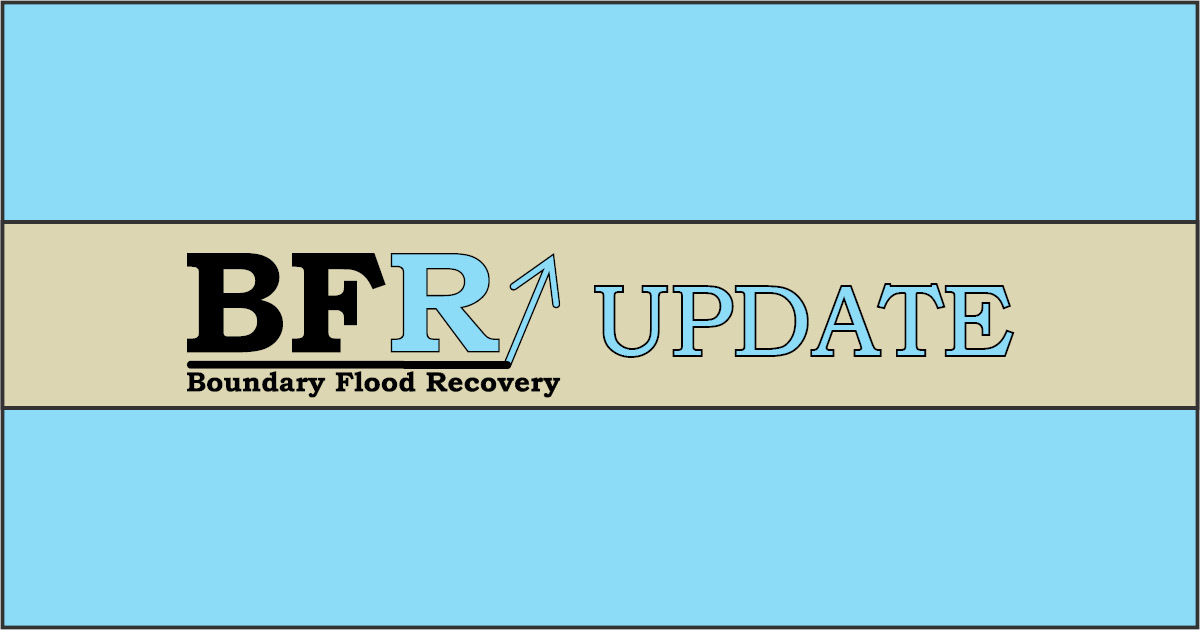 Boundary flood recovery banner