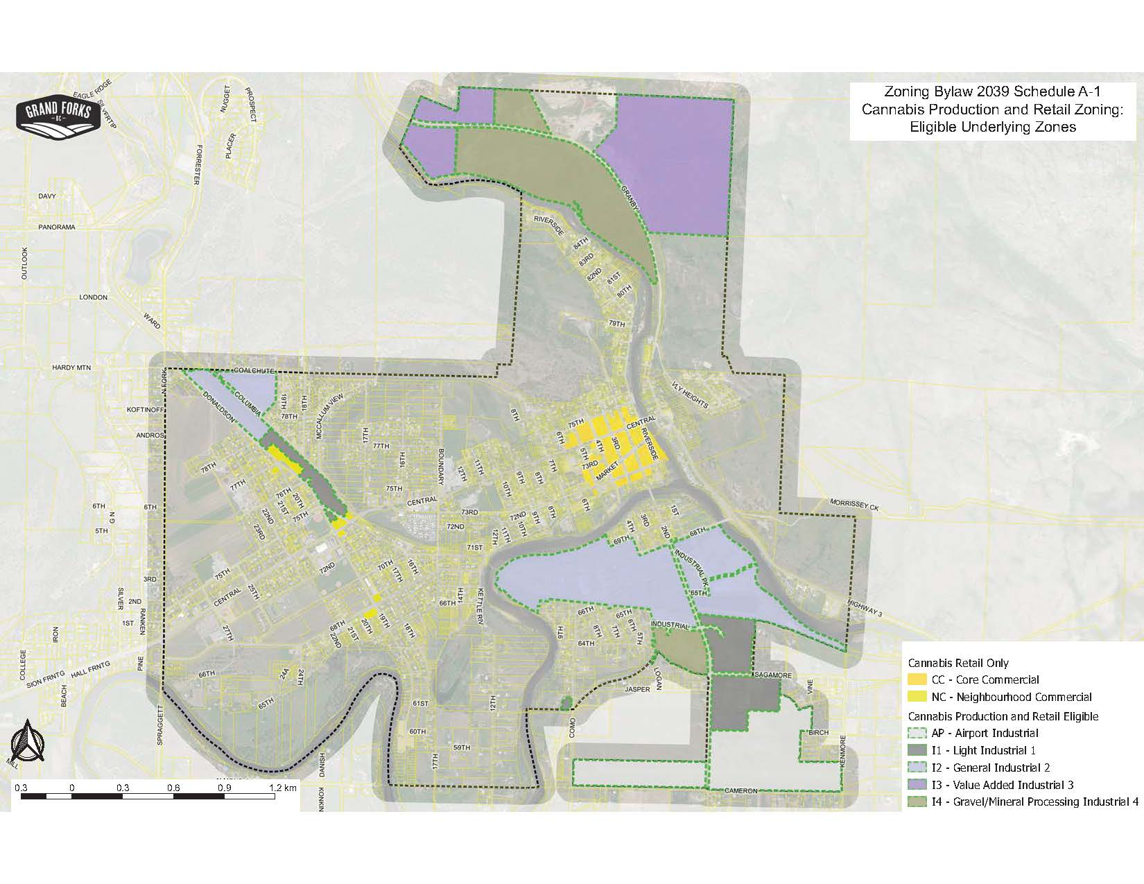Cannabis Underlying Zoning Map letter