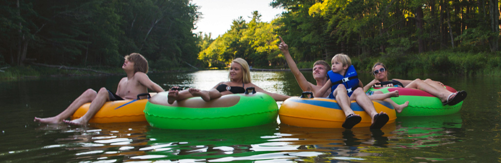 Family Tubing on River