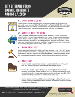 Council Meeting Highlights - August 17, 2020