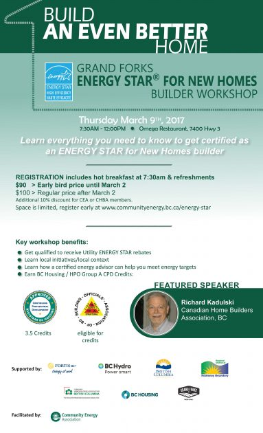Energy Star for New Homes Builder's Workshop @ Omega Restaurant