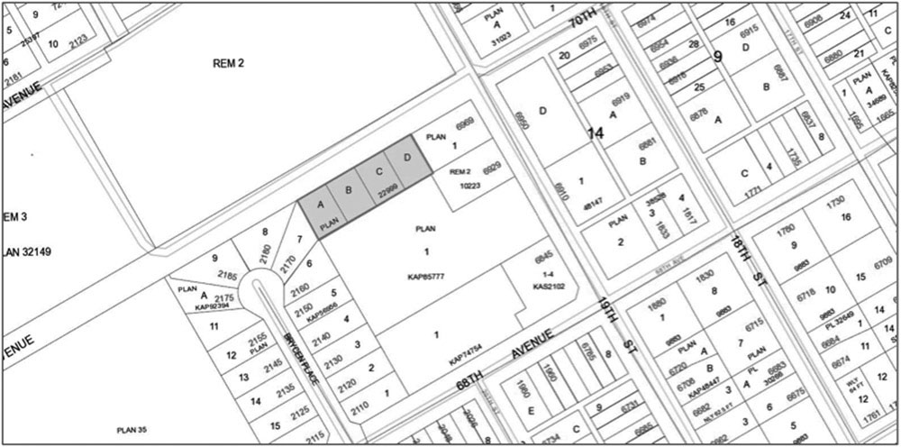 Notice of Zoning Bylaw Amendment Map