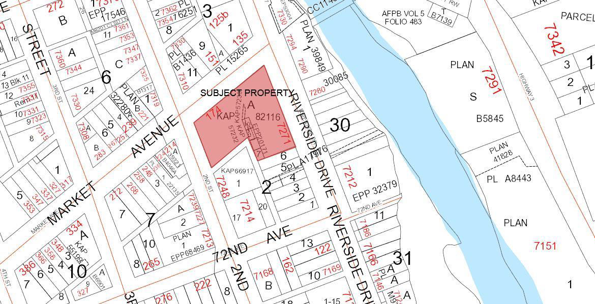 Notice of Temporary Use Permit Map - October 10 2018