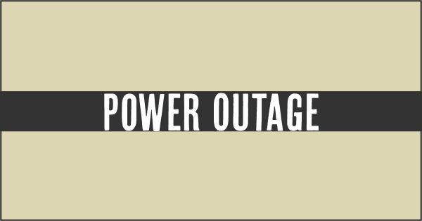 power outage notice