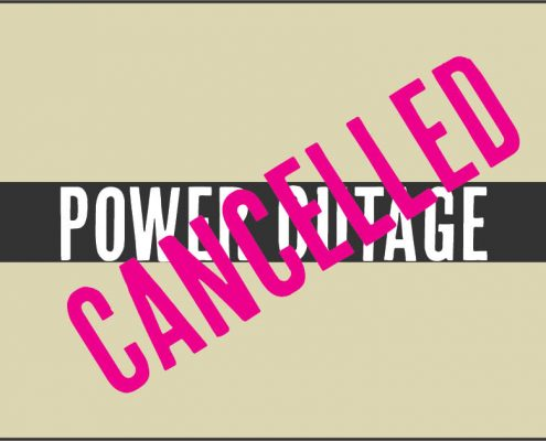 power outage cancelled