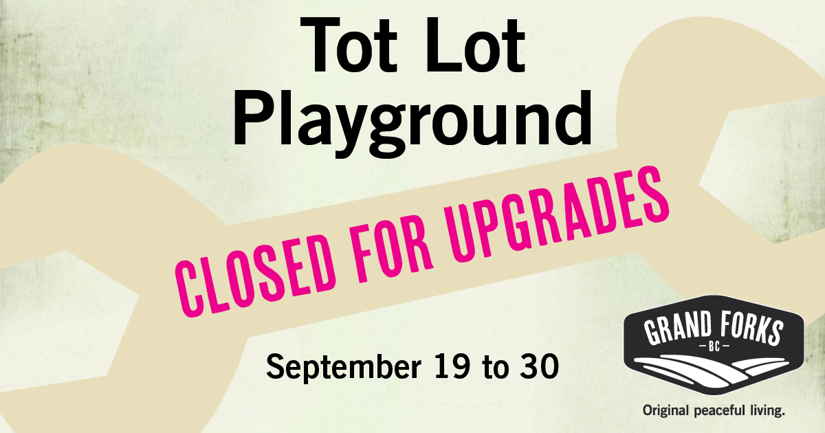 Tot Lot closed for upgrades